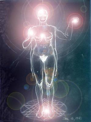 Iluminated Goddess Art Print by Stephen Carver