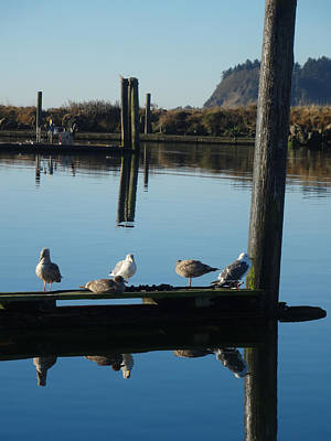Photograph - Ilwaco Dock Gang by Jacqueline  DiAnne Wasson
