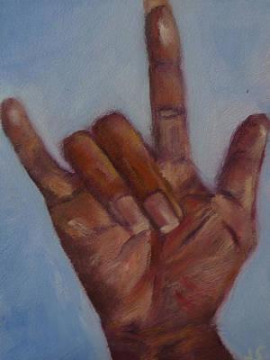 Ily Hand Study Art Print