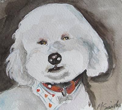 Toy Breeds Painting - I'm A Good Boy by Melinda Saminski
