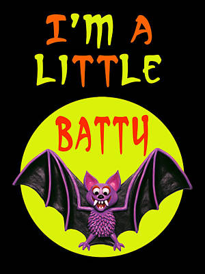 I'm A Little Batty Original by Amy Vangsgard