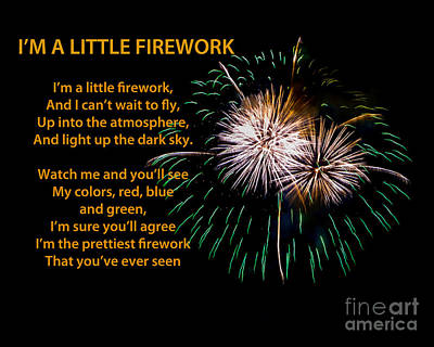 Photograph - I'm A Little Firework by Grace Grogan