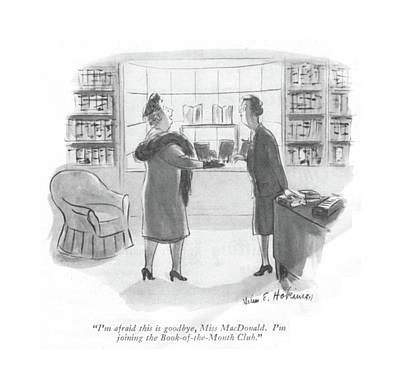Novel Drawing - I'm Afraid This Is Goodbye by Helen E. Hokinson