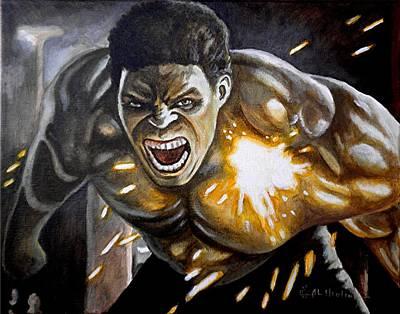 Hulk Painting - I'm Always Mad by Al  Molina