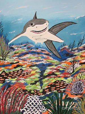 Fish-eye Look Painting - I'm Back by Jeffrey Koss