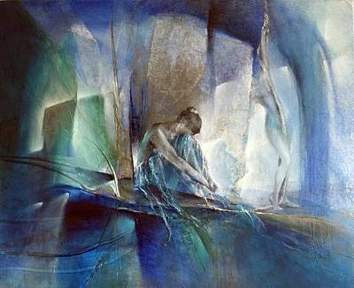 Painting - Im Blauen Raum by Annette Schmucker