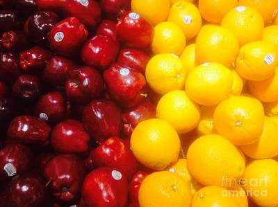 I'm Comparing Apples And Oranges Art Print by WaLdEmAr BoRrErO