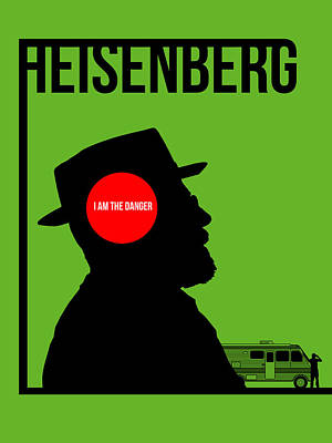 Heisenberg Drawing - I'm Danger Poster 1 by Naxart Studio