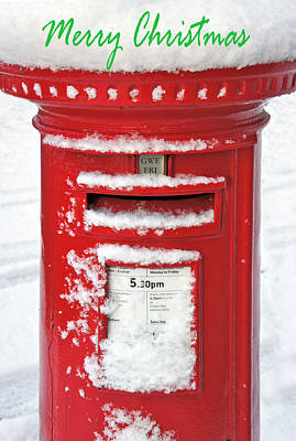 Mail Box Photograph - I'm Dreaming Of A White Christmas by Mal Bray