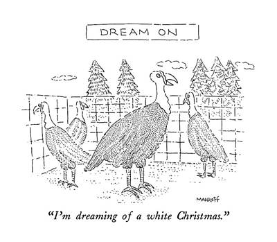 song lyrics drawing im dreaming of a white christmas by robert mankoff - White Christmas Song Lyrics