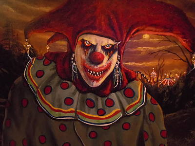 Evil Clown Painting - I'm Here For You by James Guentner