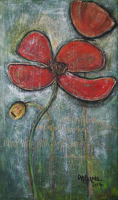 Painting - I'm Home Poppies by Laurie Maves ART