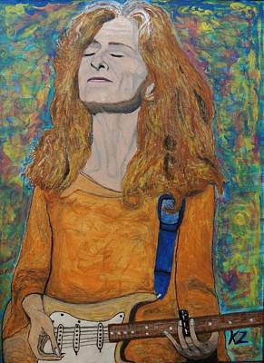 Painting - I'm In The Mood For Bonnie Raitt. by Ken Zabel