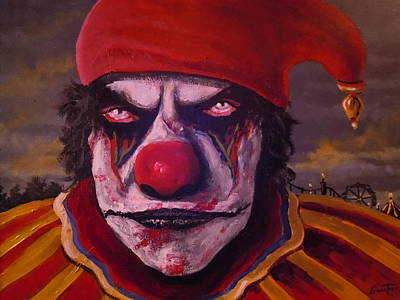 Evil Clown Painting - I'm Looking At You by James Guentner