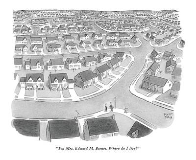 Development Drawing - I'm Mrs. Edward M. Barnes. Where Do I Live? by Robert J. Day