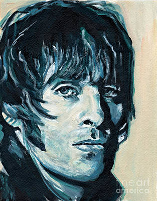 Lead Vocalist Painting - Liam Gallagher by Tanya Filichkin