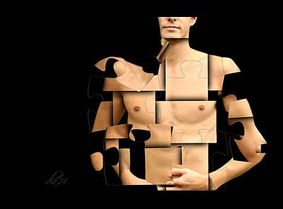I'm Puzzled Art Print by Diana Angstadt