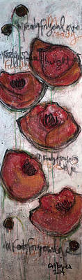 Im Ready For Your Love Poppies Original by Laurie Maves ART