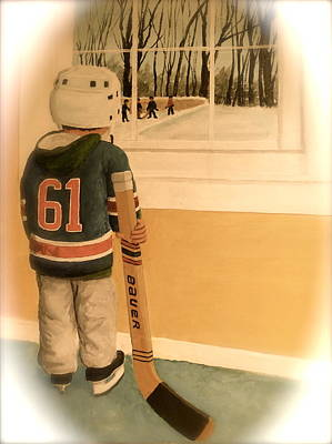 Nhl Winter Classic Photograph - I'm Ready II by Ron  Genest