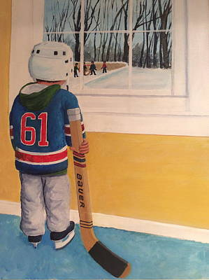 Minor Hockey Painting - I'm Ready by Ron  Genest