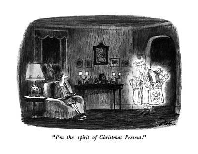 I'm The Spirit Of Christmas Present Art Print by Robert Weber