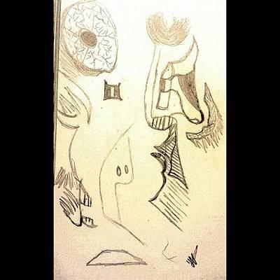 Im Thinking Beautiful Mind Original by Unique Jenkins
