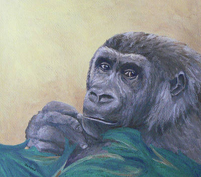 Painting - I'm Watching You by Margaret Saheed