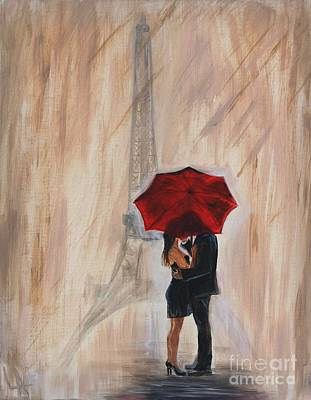 Umbrellas Painting - I'm Yours by Leslie Allen