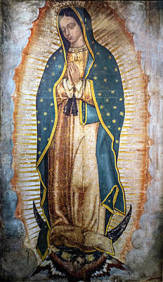 Photograph - Image Of Our Lady Of Guadalupe In The New Basilica Mexico by Marek Poplawski