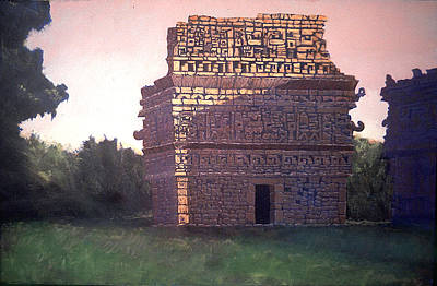 Chichen Itza Painting - Image Of The Descending God by David Zimmerman