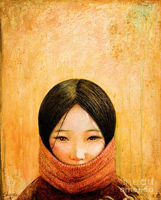 Portrait Painting - Image Of Tibet by Shijun Munns