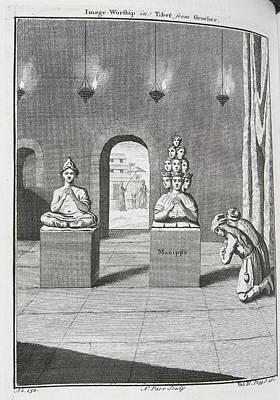 Image Worship In Tibet Art Print