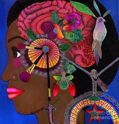 Self-portrait Mixed Media - Imaginarium by Mucha Kachidza