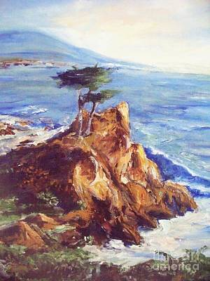 Art Print featuring the painting Imaginary Cypress by Eric  Schiabor