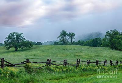 Imaginary Morning On The Blue Ridge I Art Print by Dan Carmichael