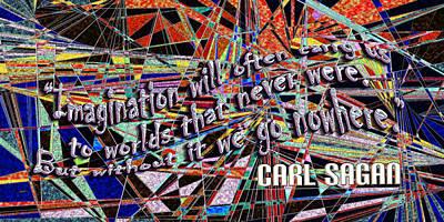 Carl Sagan Painting - Imagination by Douglas Christian Larsen