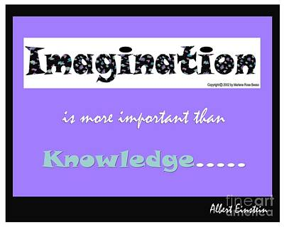 Digital Art - Imagination Quote by Marlene Rose Besso