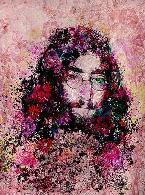 John Lennon Wall Art - Painting - Imagine 3 by Bekim Art