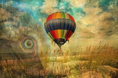 Pelican Digital Art - Imagine by Betsy Knapp
