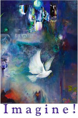 Imagine - With White Border And Title Art Print by Brooks Garten Hauschild