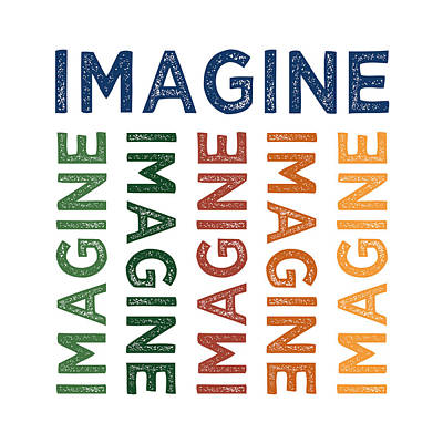 Imagine Cute Colorful Art Print