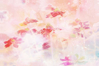 Floral Abstract Digital Art - Imagine - F11v04b by Variance Collections