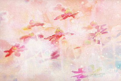 Floral Abstract Digital Art - Imagine - F11v04bt01 by Variance Collections