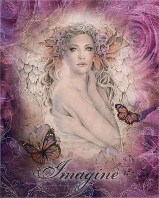 Divine Mixed Media - Imagine by Jessica Galbreth
