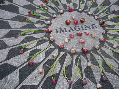 Flower Memorial Photograph - Imagine by Kendell Timmers