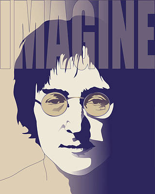Beatles Digital Art - Imagine by Mary Zins