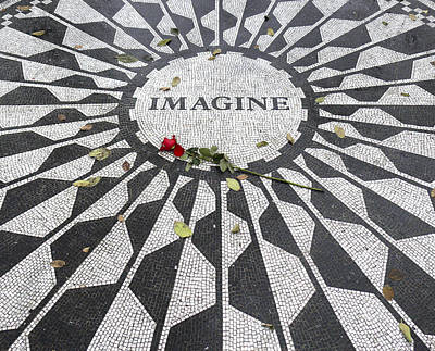 Lennon Photograph - Imagine Mosaic by Mike McGlothlen