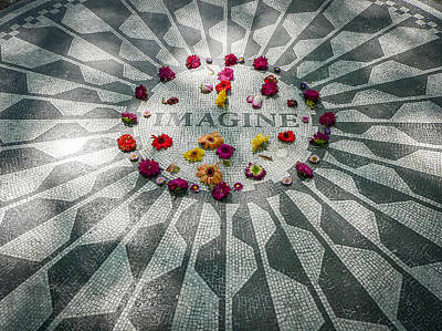 Photograph - John Lennon Memorial by Steven Sparks