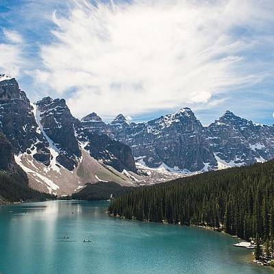 Wallpaper Photograph - Moraine Lake by Andrew Burgos