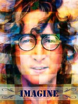 Lennon Mixed Media - Imagine by Georgiana Romanovna